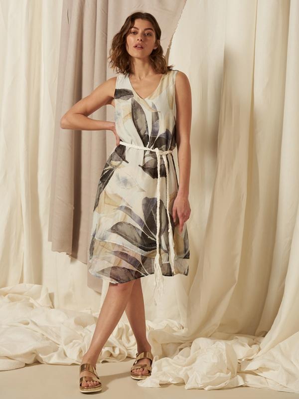 Kleid ohne Arm Eco-Viscose & Seide