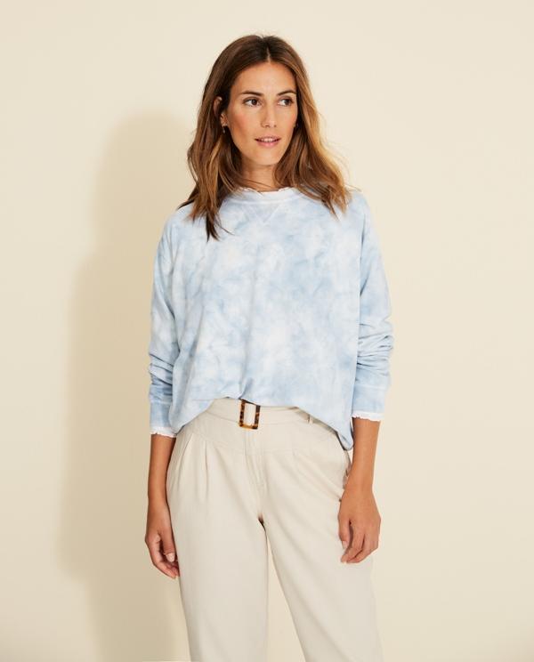 Sweatshirt Baumwolle Batic-Druck