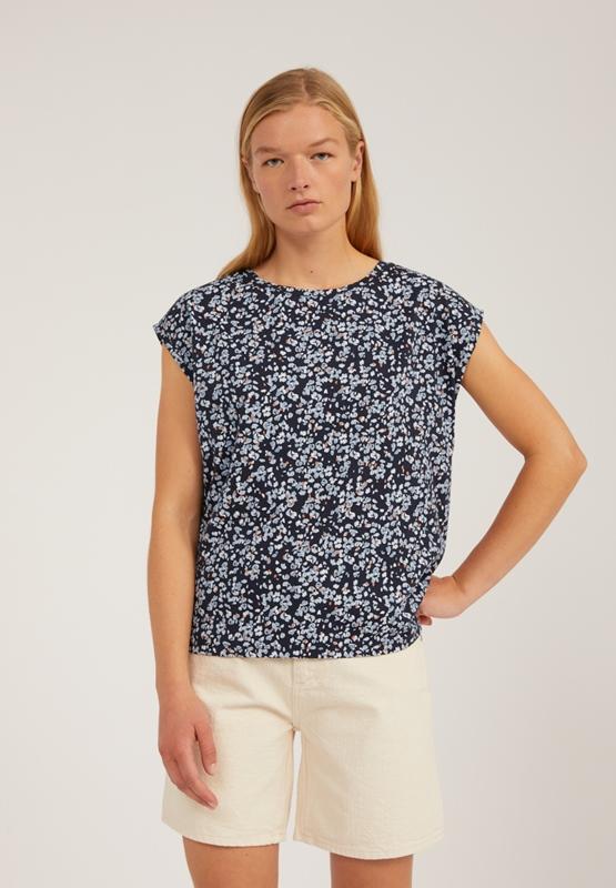 Jennaa Shirt Tencel Blumen-Print