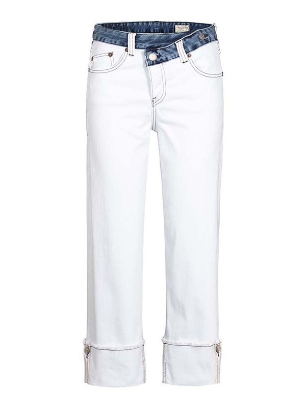 Mäze Jeans zweifarbig patched cropped