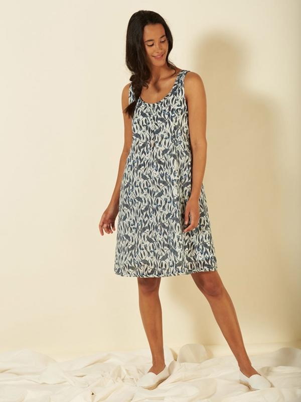 Kleid Bio-Baumwolle mit Unterkleid