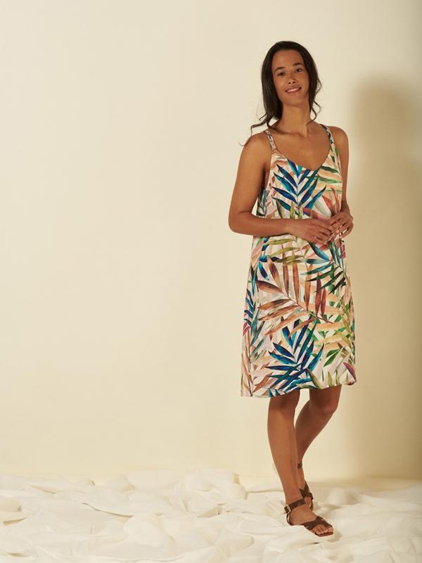 Kleid ohne Arm Eco-Viscose