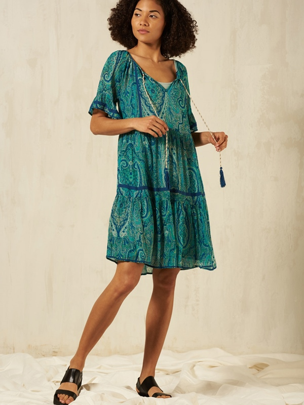 Kleid mit Unterkleid Eco-Viscose
