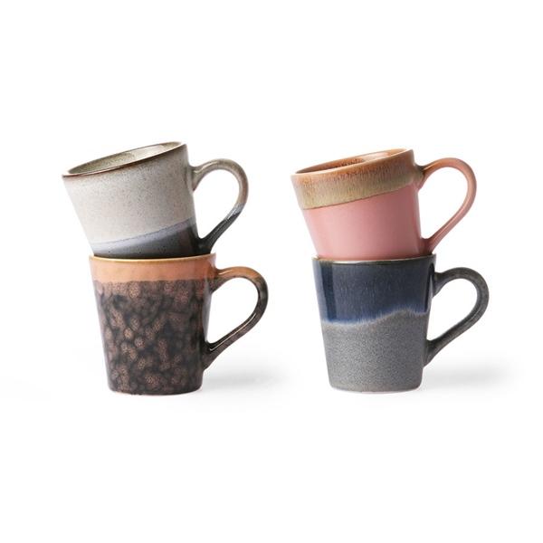 Espresso Tasse 4er Set 70s Keramik