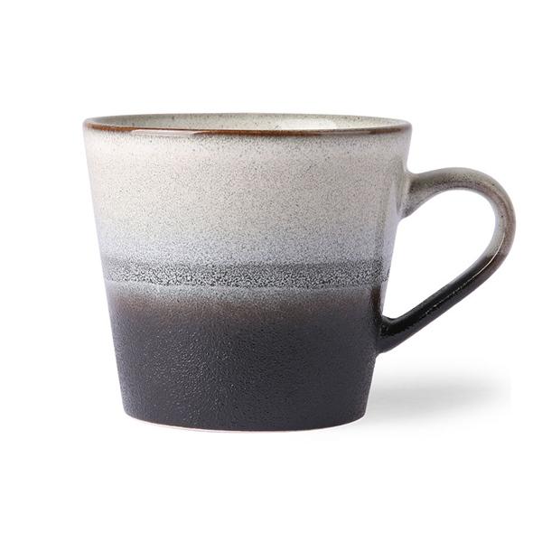 Cappuccino Tasse rock 70s Keramik