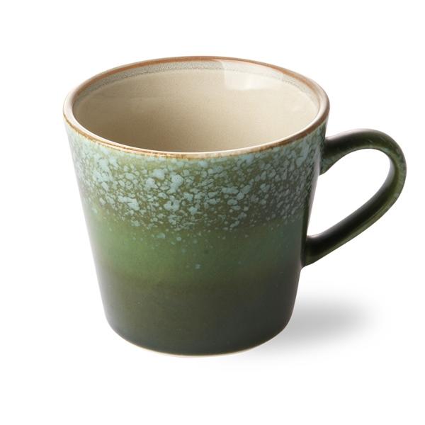 Cappuccino Tasse grass 70s Keramik