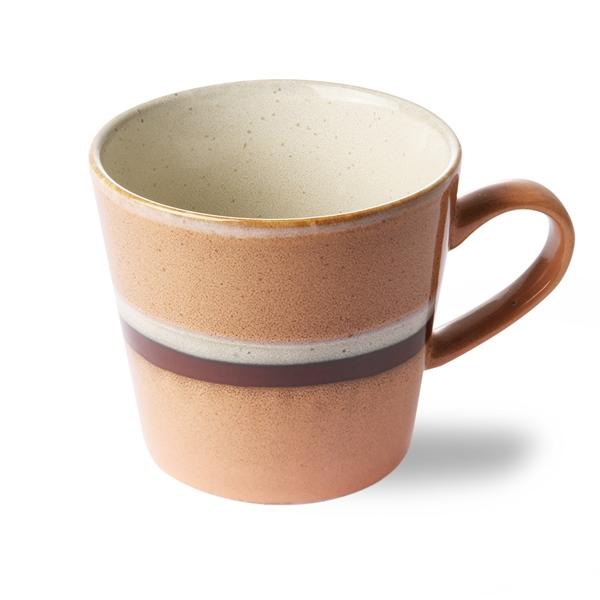 Cappuccino Tasse stream 70s Keramik