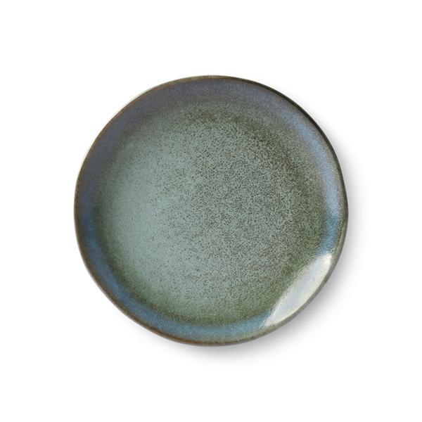 Dessert Teller 2er set moss 70s Keramik