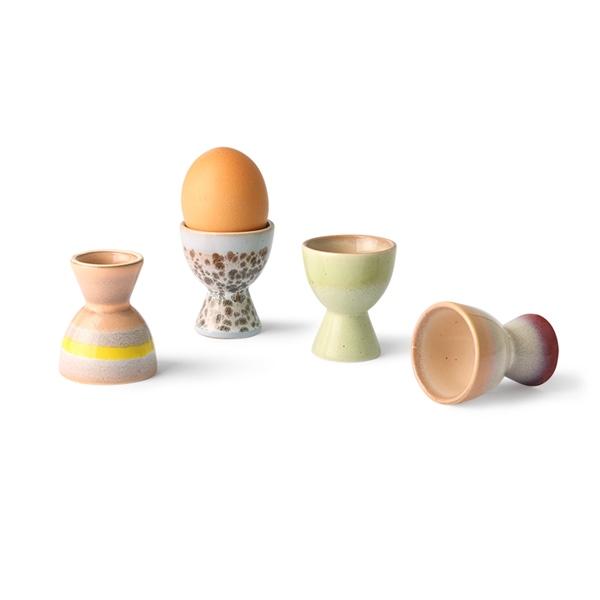 Eierbecher 4er Set 70s Keramik