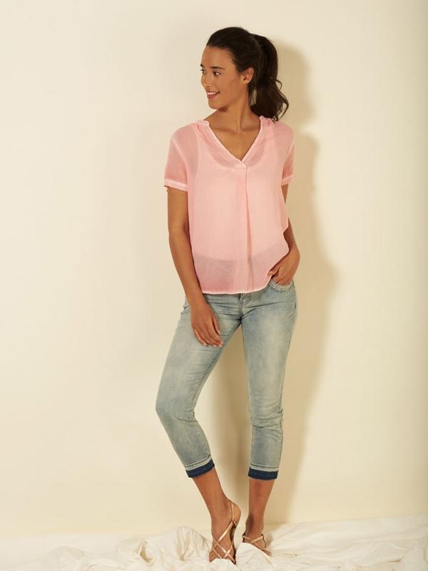Jeans Bio-Baumwolle 7/8 light denim