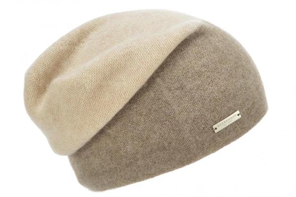 zweifarbige Mütze 100% Cashmere