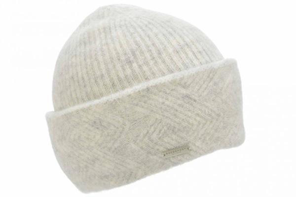weiche Toque Mütze mit Zopfmuster