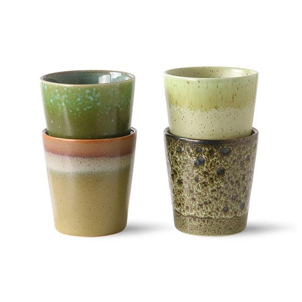 Kaffee Becher 4er Set spring greens 70s