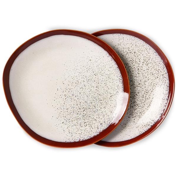 Dinner Plate Teller 2er Set frost 70s