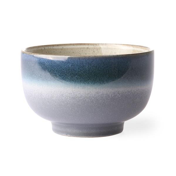 Nudel Bowl ocean 70s Keramik