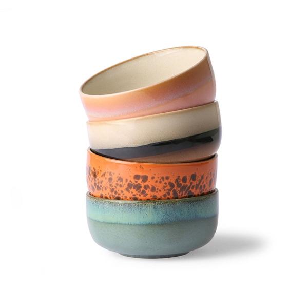 Dessert Bowls 4er Set 70s Keramik
