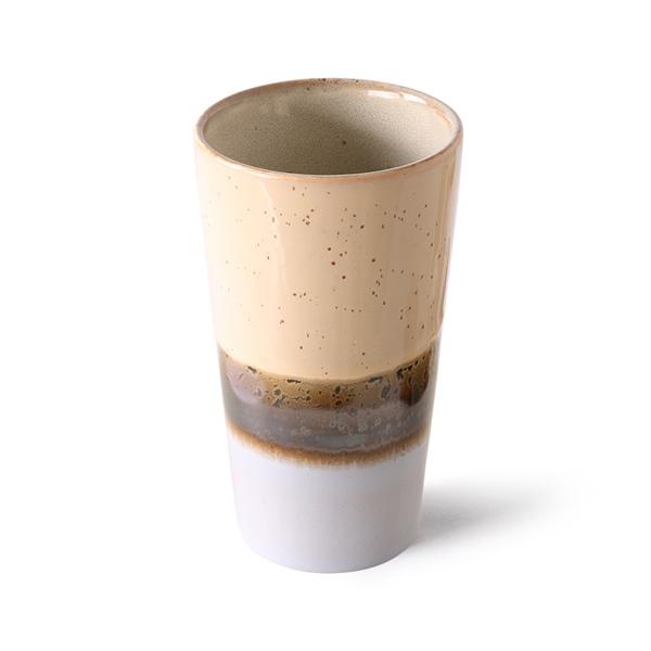 Latte Tasse lake 70s Keramik