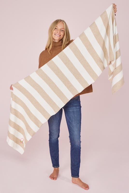 VanillaL Schal mit Streifen Wolle