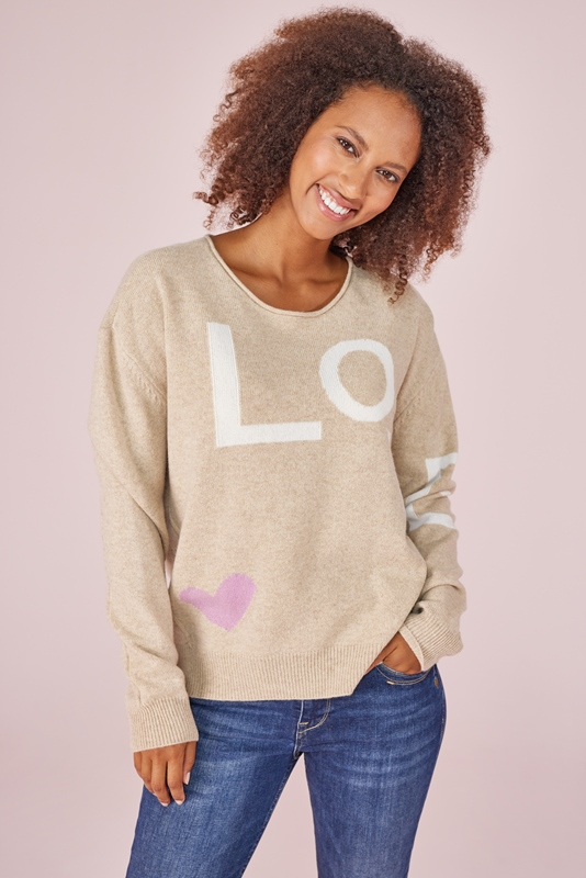"""LenjaL Pullover Intarsie """"Love"""""""