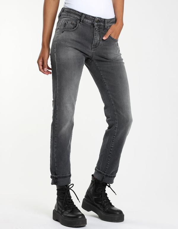 Rubinia Jeans straight girly mid black